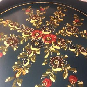 Hindeloopen Nordic Floral tray vintage